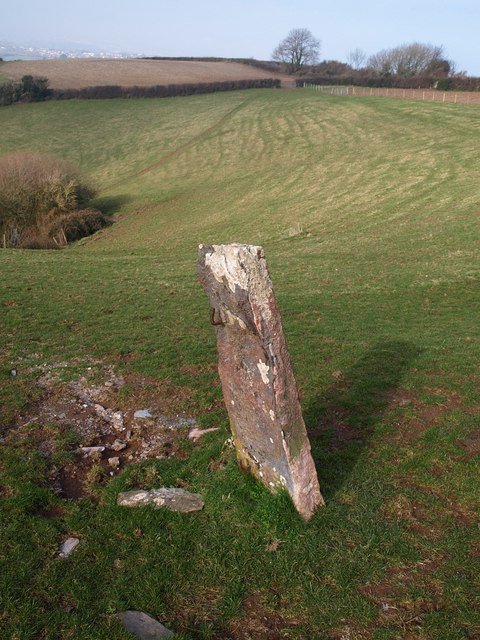Gatepost by Kingswear Footpath 53