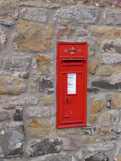Victorian postbox in Great Bavington