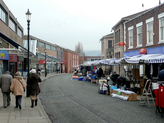 Street market, Macclesfield