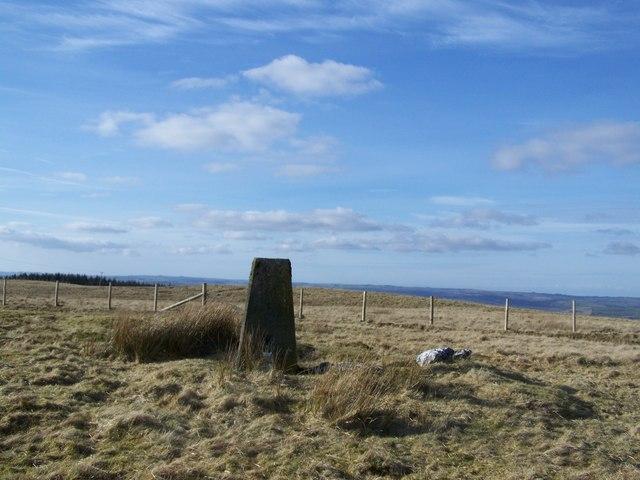 Mynydd  Pencarreg triangulation pillar
