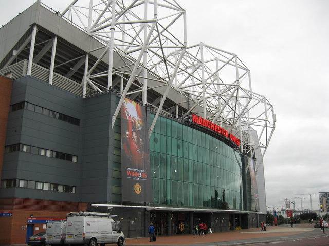 Old Trafford Football Stadium, Manchester.