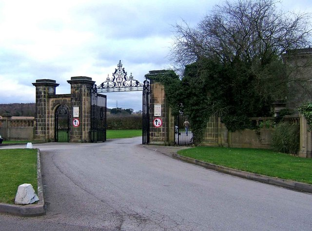 Foremark Hall entrance gates