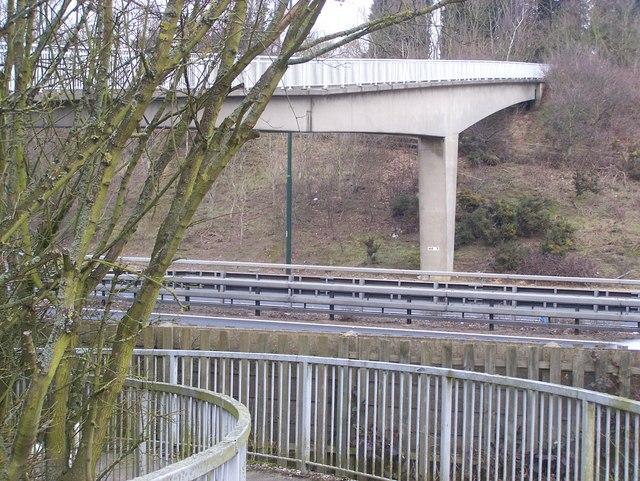 Footbridge over M20 Motorway