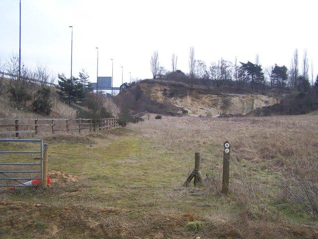 Quarry Face beside M20 Motorway