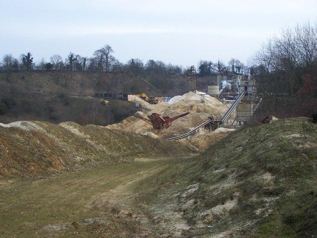 Hansons Sand Quarry Works