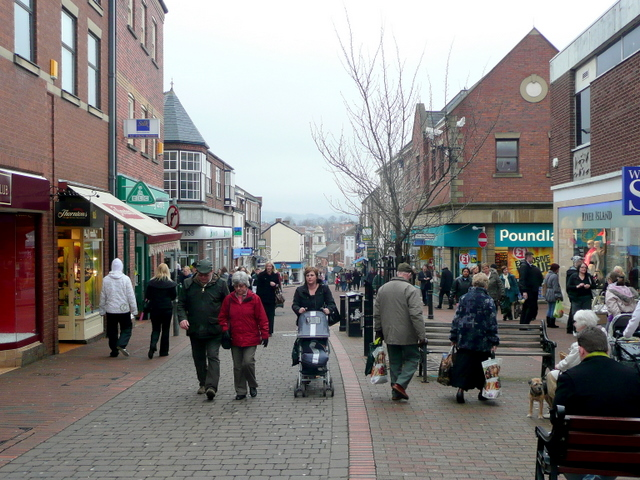 Tuesday afternoon shoppers, Macclesfield
