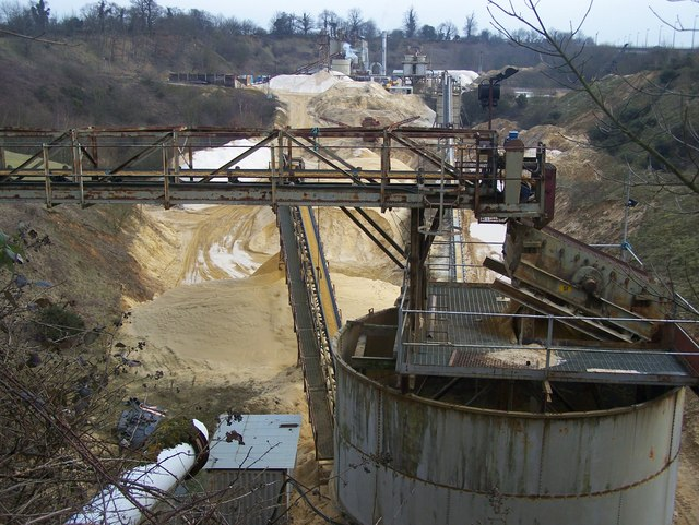 Conveyor and Sand Sorter, Hansons Quarry