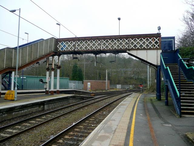 Footbridge at Kidsgrove Station