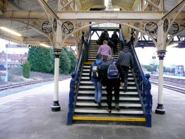 Staircase, Hereford Railway Station