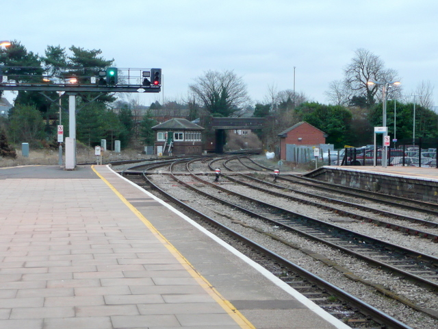 View south from Hereford Railway Station
