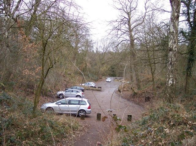 Car park at Barnsbridge Gate, Delamere Forest