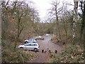 SJ5471 : Car park at Barnsbridge Gate, Delamere Forest by Raymond Knapman