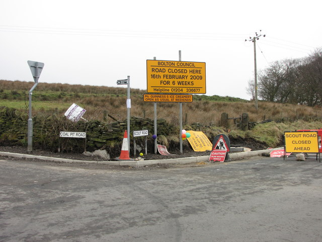 Signs at Scout Road Junction
