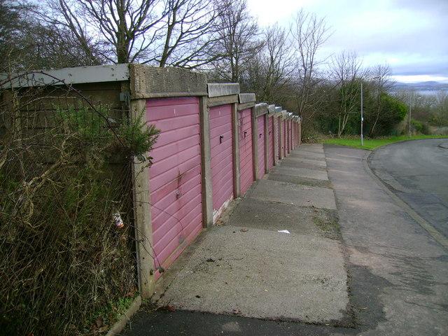 Fourteen garages