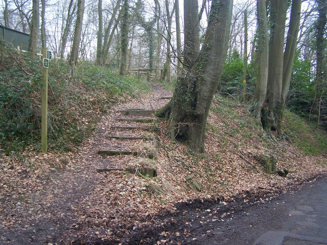 North Downs Way goes into Trosley Country Park