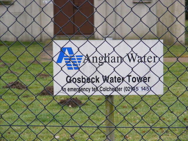Gosbeck Water Tower Sign