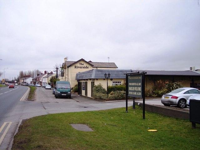 The Riverside restaurant at Acton Bridge