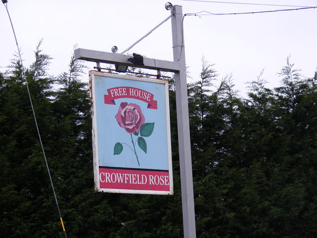 Crowfield Rose Public House Sign