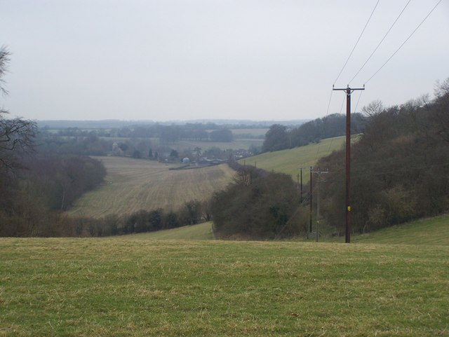 View in valley to Stansted