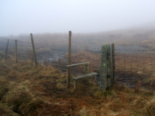 Stile and fence post