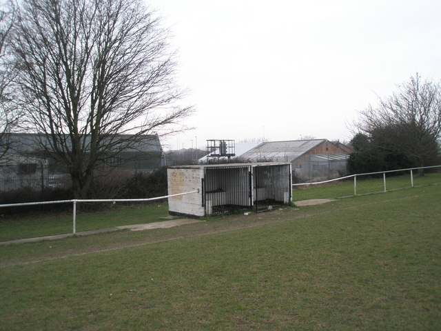 The dug-out at Paulsgrove F.C.