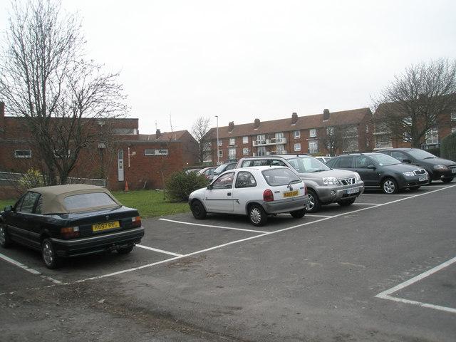 Car park at St Paul's RC church, Paulsgrove