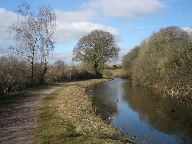 A bend in the canal, near Halberton