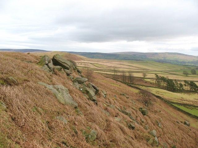 Low Crag, looking east