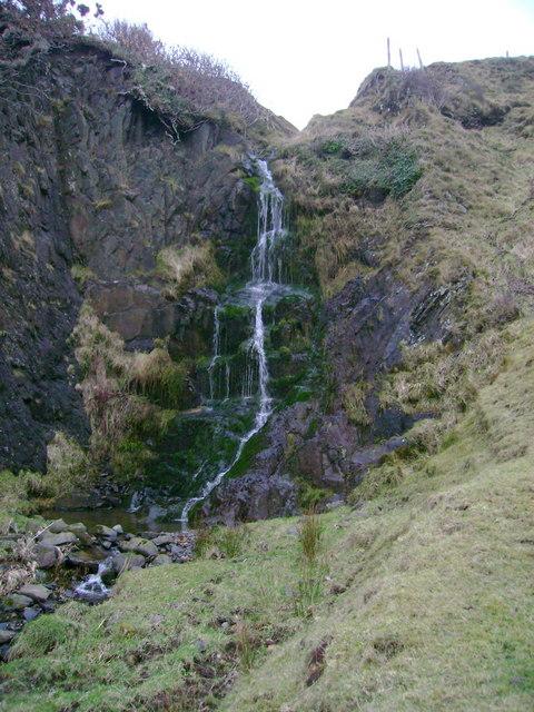 Waterfall at end of Barniecairn Glen
