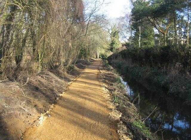 Work on the footpath