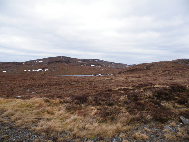 No Name Lochan on Moorland beside Levishie Forest Track