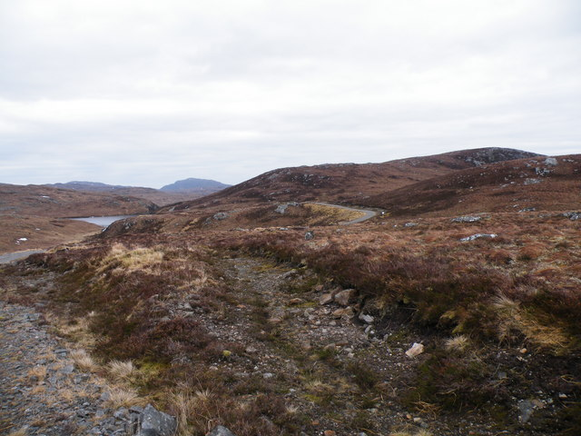 Levishie Forest Track passing Loch Carn Tuairneir Beag