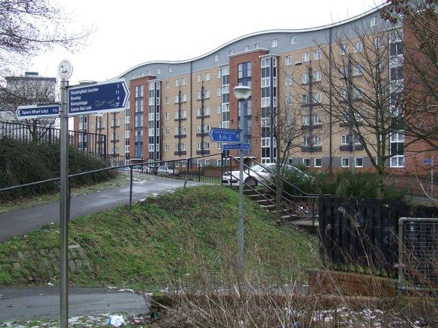 Modern flats at Firhill