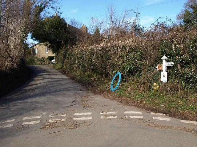 Lane junction, Littlecombe