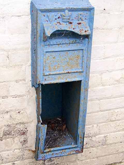 Redundant Victorian postbox, Athelhampton