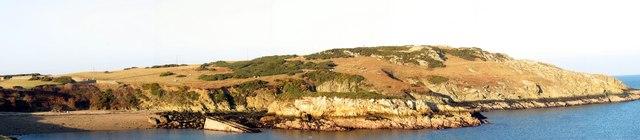 A panorama of Wylfa Head