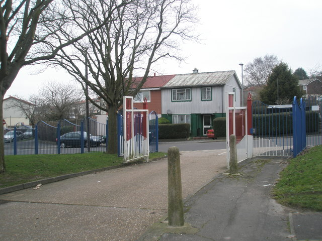 Gates from Rydal Close onto Nailsworth Road