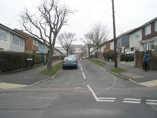 Looking from Collington Crescent into Winchcombe Road