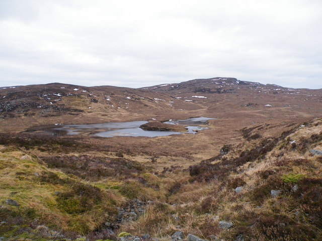 Loch an Dubhair from Levishie Forest Track