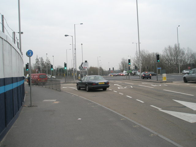 Busy road junction just south of Paulsgrove