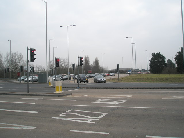 Traffic lights in Southampton Road