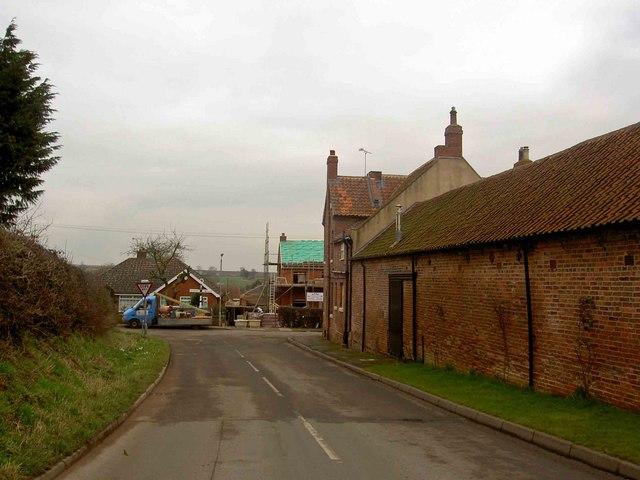 Building work on Main Street, Upton (Notts)