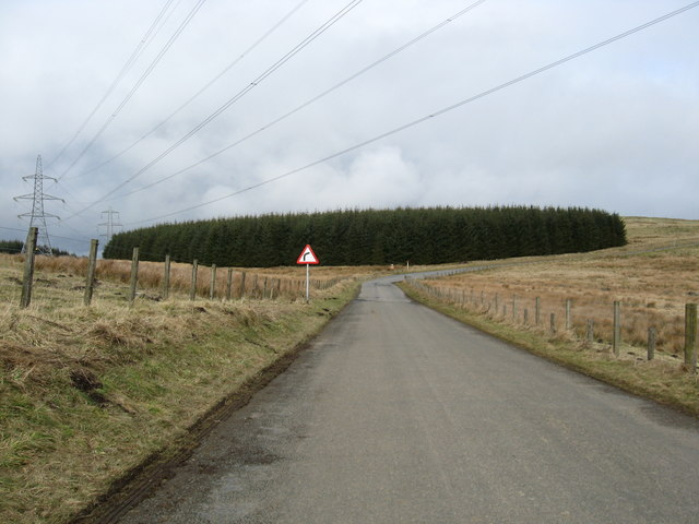 Borders hill road heading for the A68