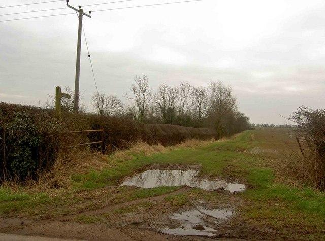 Bridleway near Magpie Hall Farm
