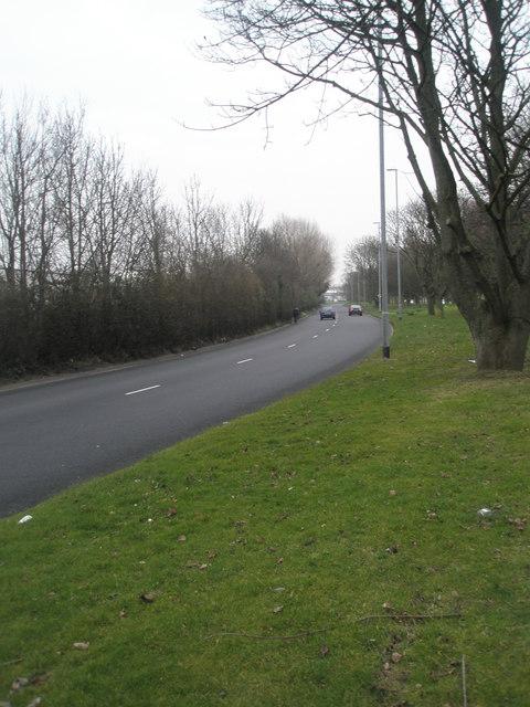 Eastern carriageway of Western Road