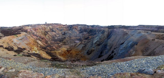 The western opencast workings at Parys Mountain