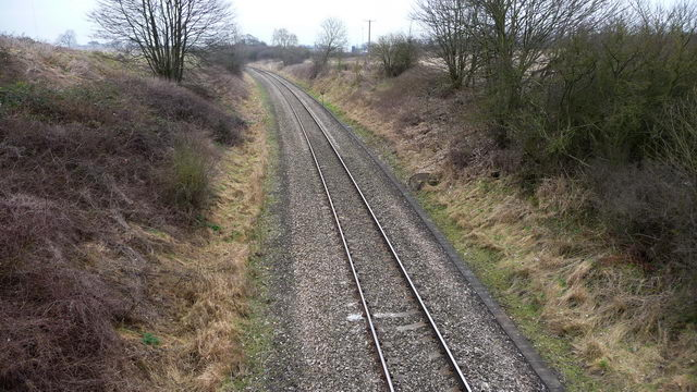 Worcester to Birmingham railway line.