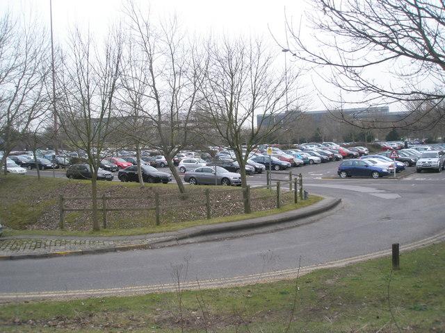 Full car park just off Western Road