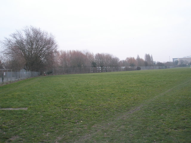 North-west corner of King George V Playing Fields