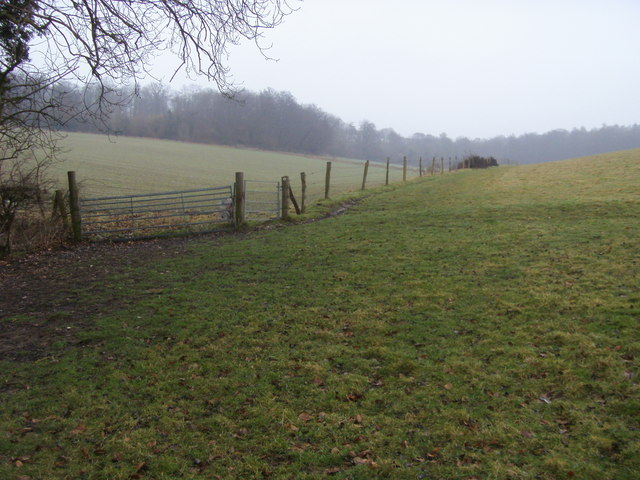 Footpath towards Long Copse